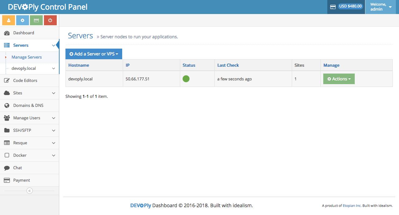 Docker Wordpress - Hosting Control Panel